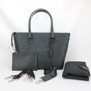 Nappy tote bag black